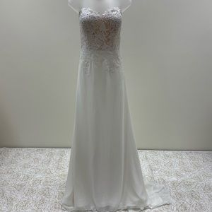 NWT White One Designer Strapless Wedding Dress